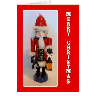 Santa Claus Nutcracker Christmas Card
