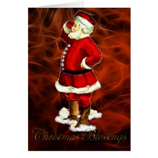 Santa Claus Old-fashioned Father Christmas Card
