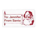 Santa Claus - Old Fashioned, Vintage Shipping Label