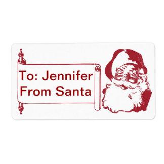 Santa Claus - Old Fashioned, Vintage Label