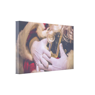 Santa Claus Old Town Country Christmas Photograph Canvas Print