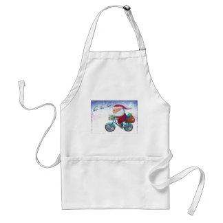 Santa Claus on Bicycle Apron