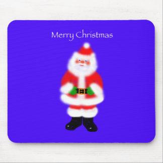 Santa Claus on Blue Mousepad