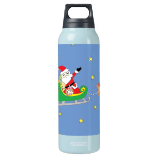 Santa Claus on Christmas Night Insulated Water Bottle