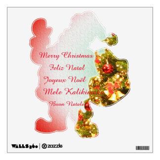 Santa Claus on Christmas tree Wall Sticker