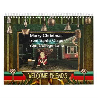 Santa Claus on College Lane Calendar