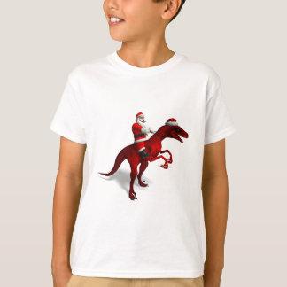 Santa Claus On Dino T-Shirt
