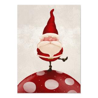 Santa Claus on fungus 5x7 Paper Invitation Card