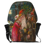 Santa Claus On His Way 1 Courier Bags
