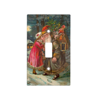 Santa Claus On His Way 1 Light Switch Cover