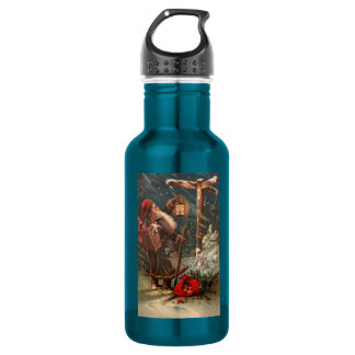 Santa Claus On His Way 2 18oz Water Bottle