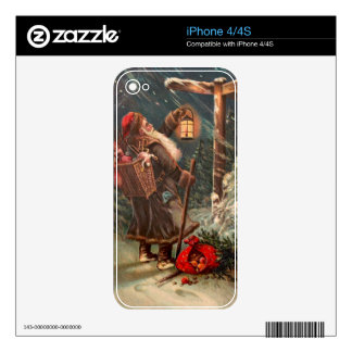 Santa Claus On His Way 2 Decals For iPhone 4