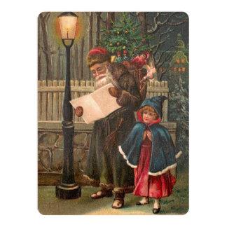 Santa Claus On His Way 3 Card