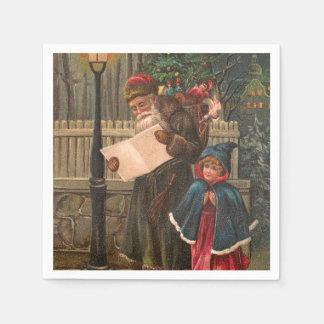 Santa Claus On His Way 3 Paper Napkin