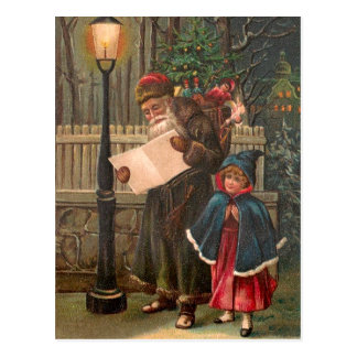 Santa Claus On His Way 3 Postcard