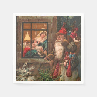 Santa Claus On His Way 4 Napkin