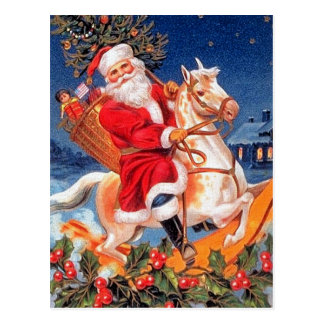 """Santa Claus on Horseback"" Postcard"