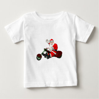 Santa Claus On Motor Trike Baby T-Shirt