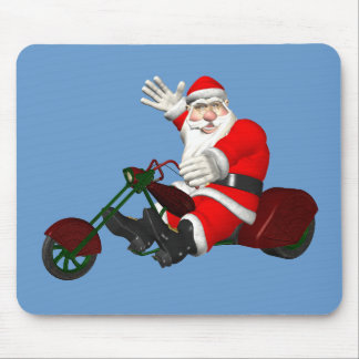 Santa Claus On Motor Trike Mouse Pad