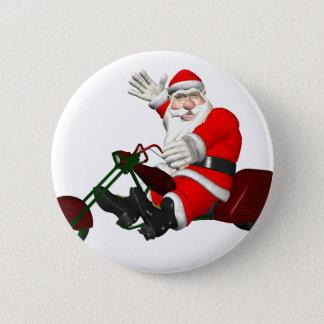 Santa Claus On Motor Trike Pinback Button