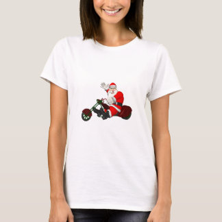 Santa Claus On Motor Trike T-Shirt