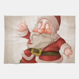 Santa Claus on skateboard Towels