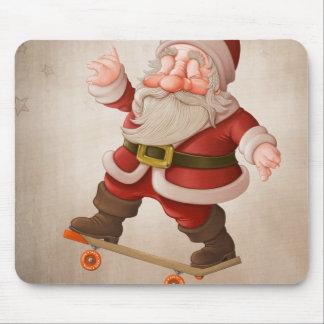 Santa Claus on skateboard Mouse Pad