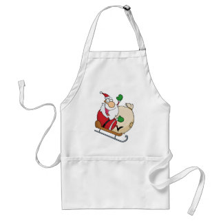 Santa Claus on Sleigh Adult Apron