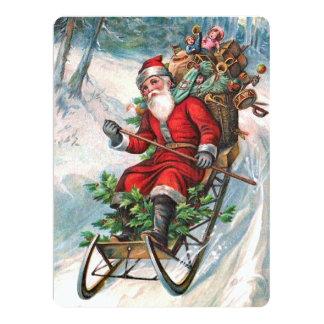 Santa Claus on Sleigh Card