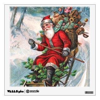 Santa Claus on Sleigh Wall Decal
