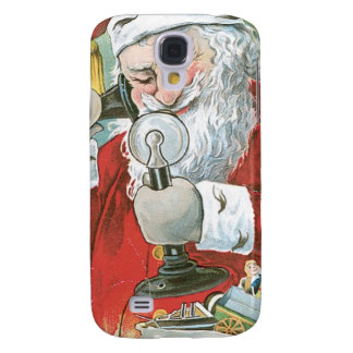Santa Claus on Telephone HTC Vivid Covers