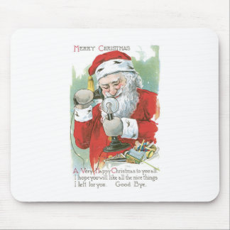 Santa Claus on Telephone Mouse Pad