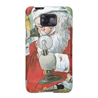 Santa Claus on Telephone Samsung Galaxy SII Covers