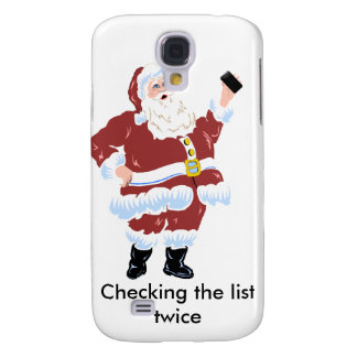 Santa Claus on the iphone 3 Skin Samsung Galaxy S4 Cases
