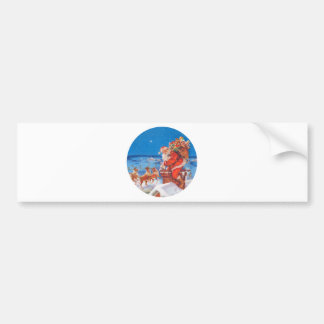 Santa Claus On the Night Before Christmas Bumper Sticker