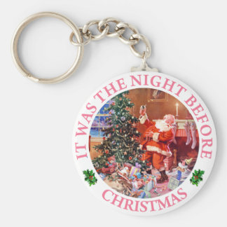 Santa Claus On The Night Before Christmas Keychain
