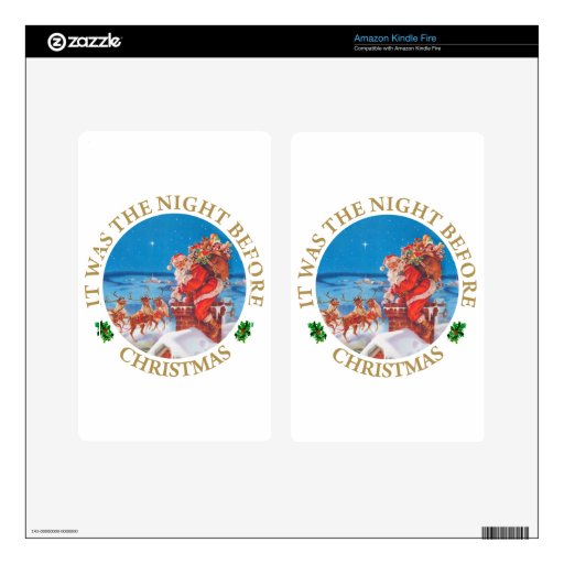 Santa Claus on the Night Before Christmas Kindle Fire Skin