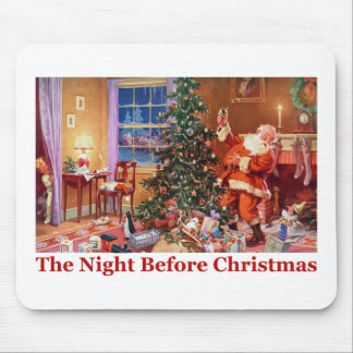 Santa Claus on The Night Before Christmas Mouse Pad