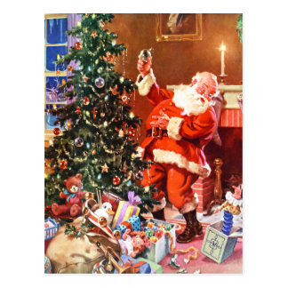 Santa Claus on The Night Before Christmas Post Cards