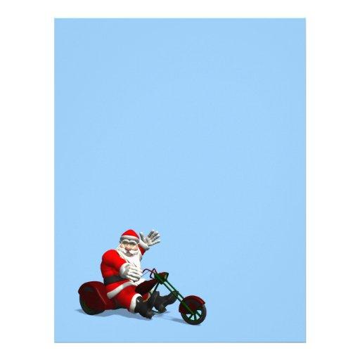 Santa Claus On Trike Letterhead Template | Zazzle