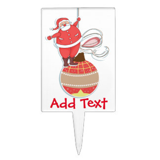 Santa Claus Ornament Cake Toppers