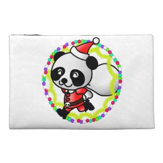 Santa Claus Panda Bear Travel Accessory Bag