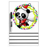 Santa Claus Panda Bear Dry Erase Boards