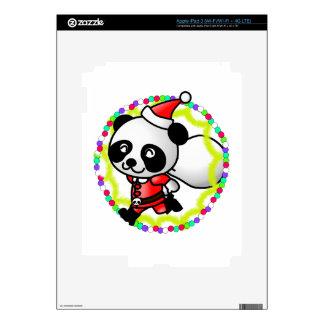 Santa Claus Panda Bear iPad 3 Decals