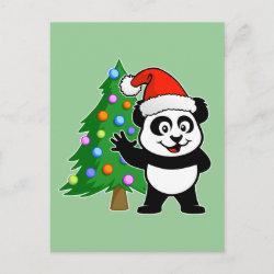 with Santa Claus Panda design