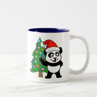 Santa Claus Panda Coffee Mugs