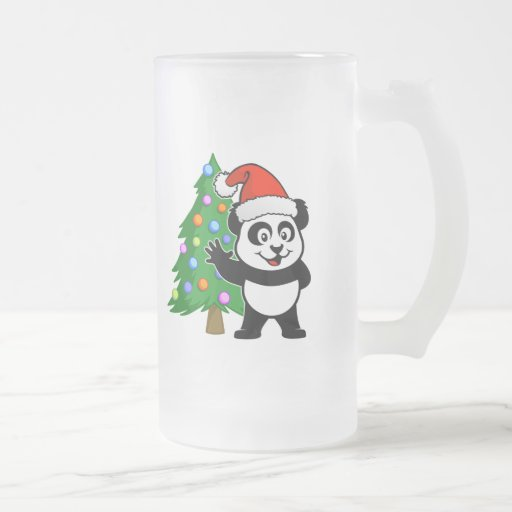 Santa Claus Panda Mugs