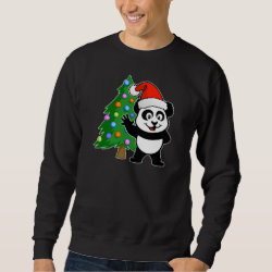 Men's Basic Sweatshirt with Santa Claus Panda design