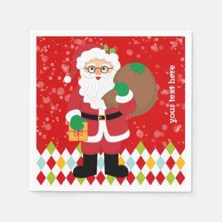 Santa Claus party * choose background color Paper Napkin