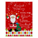 Santa Claus party * choose background color Poster
